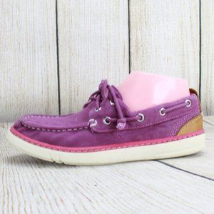 TIMBERLAND Purple Canvas Slip-on Boat Shoes Sz 7